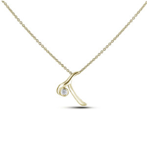 letter T diamond pendant