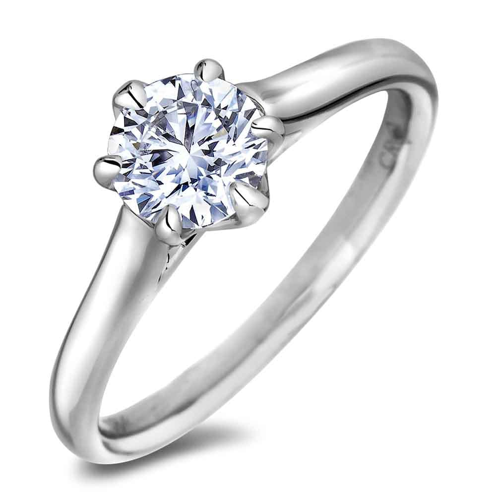 1 Carat Canadian Diamond Solitaire Engagement Ring Lugaro