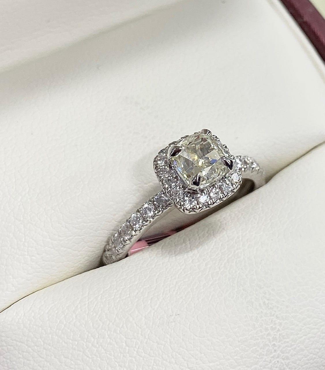 Canadian Diamond 1 Carat Halo Engagement Ring Lugaro
